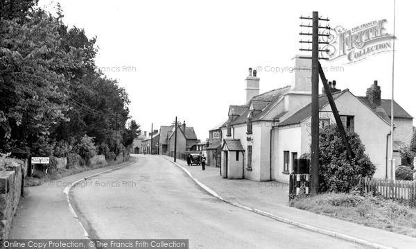 Photo of Whittington, The Village c.1955