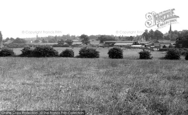 Photo of Whittington, The Village From Cappers Hill c.1955
