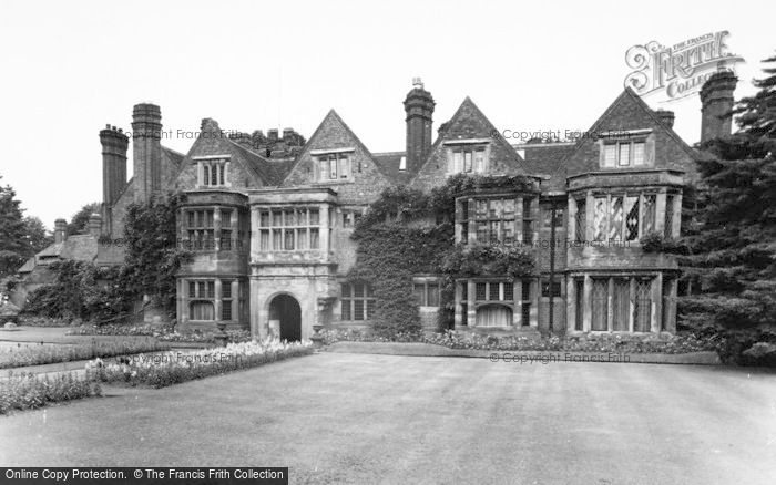 Photo of Whittington, Whittington Old Hall c.1955