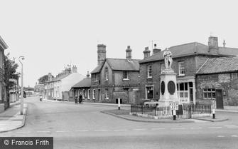 Whittlesey, the Memorial c1965