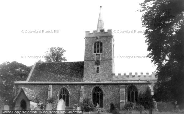 Photo of Whittlesford, St Mary And St Andrew Parish Church c.1955