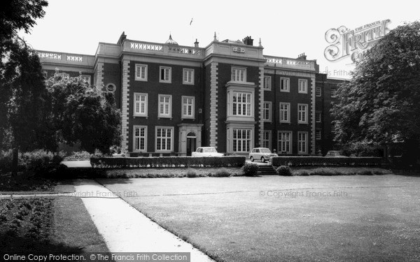Whitton, Lawn of Kneller Hall c1965