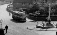 Whitwell, A Coach In The Square c.1965