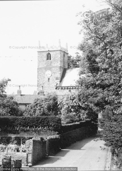 Photo of Whitwell, Church,  From Scotland Street c.1955