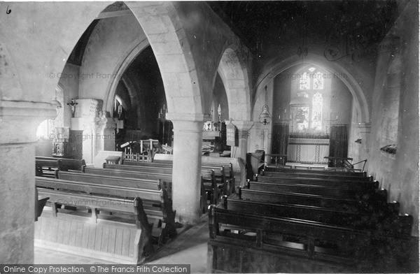 Photo of Whitwell, Church Interior c.1900