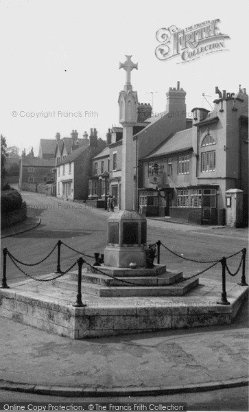 Photo of Whitwell, Memorial And High Street c.1960