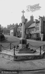 Memorial And High Street c.1960, Whitwell