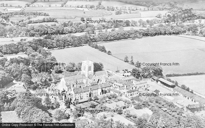 Photo of Whitwick, Aerial View, Mount St Bernard Abbey c.1955