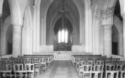Mount St Bernard Abbey Interior c.1965, Whitwick