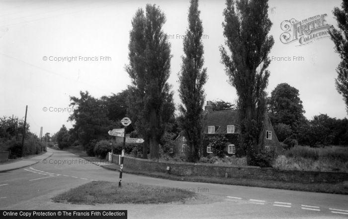 Photo of Whixley, Crossroads c.1965