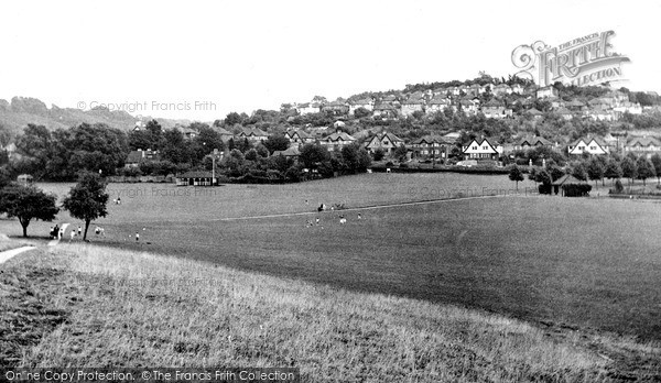 Whyteleafe, Recreation Ground looking east c1955