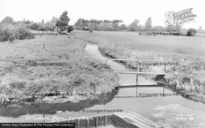 Photo of Wicken, The Fen c.1955