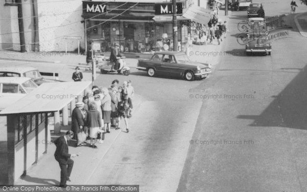 Photo of Wickford, A High Street Bus Queue c.1965