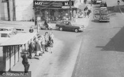 A High Street Bus Queue c.1965, Wickford
