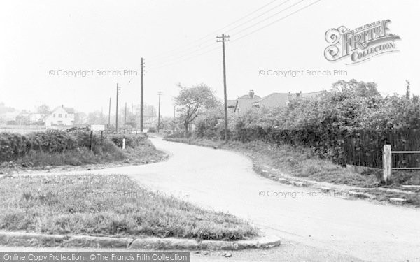 Photo of Wickford, Church Lane from Wantz Corner c1955