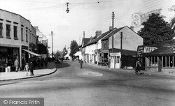 Wickford, Hall's Corner And The High Street c.1955