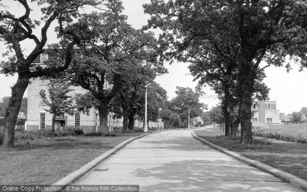 Photo of Wickford, Main Drive Runwell Hospital c.1955