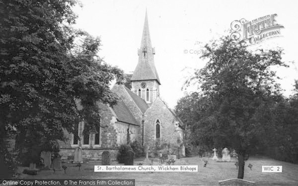 Photo of Wickham Bishops, St Bartholomew's Church c.1960