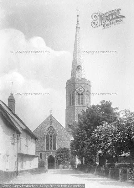 Photo of Wickham Market, All Saints Church 1929