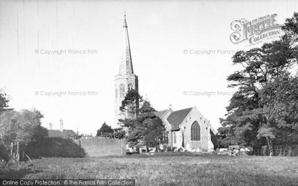 Photo of Wickham Market, All Saints Church 1954