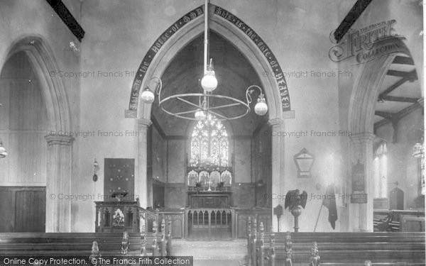 Photo of Wickham Market, All Saints Church Interior 1929