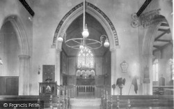 Wickham Market, All Saints Church Interior 1929