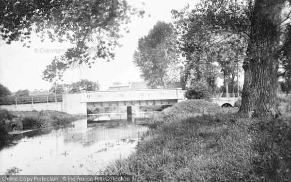 Photo of Wickham Market, Bridge And River Deben 1929