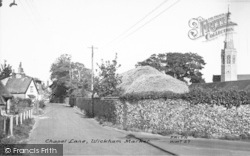 Wickham Market, Chapel Lane 1954