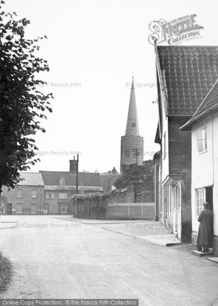 Photo of Wickham Market, Church From Dallinghoo Road 1950