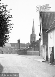 Wickham Market, Church From Dallinghoo Road 1950