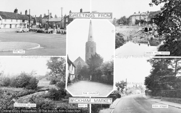 Photo of Wickham Market, Composite c.1955