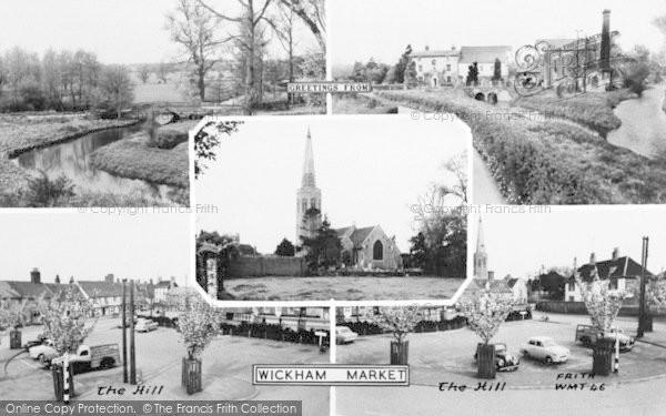 Photo of Wickham Market, Composite c.1960