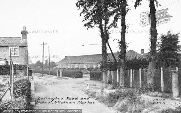 Photo of Wickham Market, Dallinghoo Road And School 1950