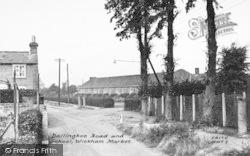 Wickham Market, Dallinghoo Road And School 1950