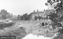 Wickham Market, Deben Mill Bridge 1950
