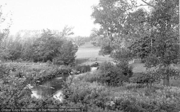 Photo of Wickham Market, Glevering Bridge 1951