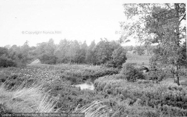Photo of Wickham Market, Glevering Bridge 1951