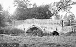 Wickham Market, Glevering Bridge 1951