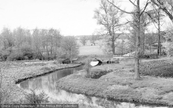 Photo of Wickham Market, Glevering Bridge 1959