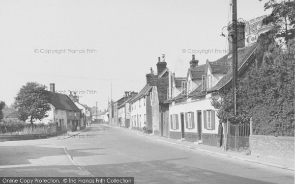Photo of Wickham Market, High Street And The Chequers 1950