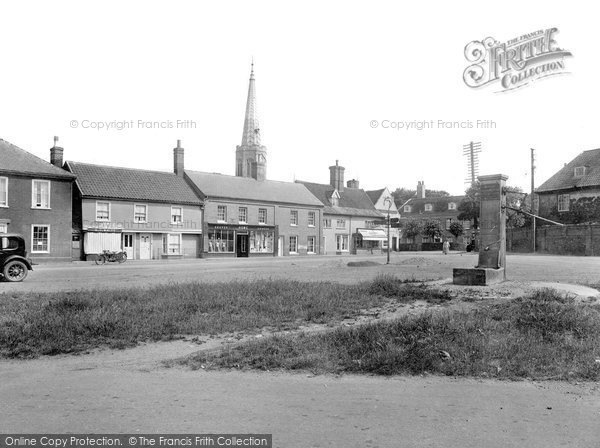 Photo of Wickham Market, Market Hill 1929
