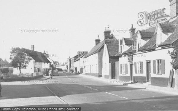 Photo of Wickham Market, The Chequers 1954