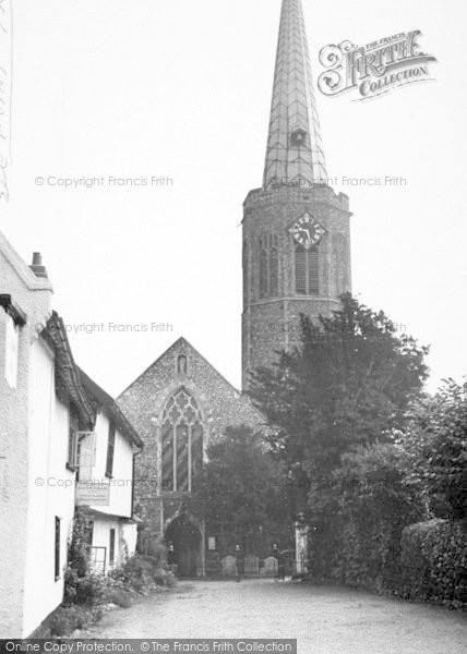 Photo of Wickham Market, The Church 1950