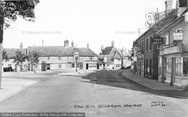 Photo of Wickham Market, The Hill 1954
