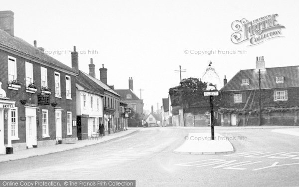 Photo of Wickham Market, The Hill And White Hart Hotel 1950