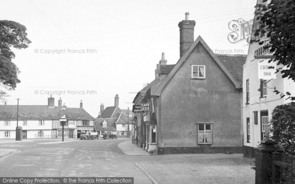 Photo of Wickham Market, The Hill From The Crown Inn 1950