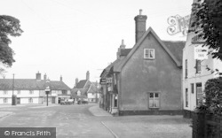 Wickham Market, The Hill From The Crown Inn 1950