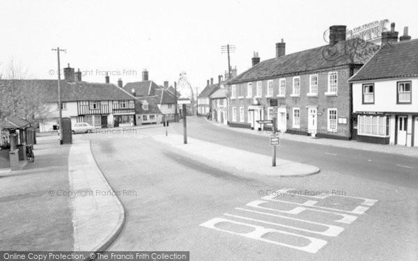 Photo of Wickham Market, White Hart And Sign 1959