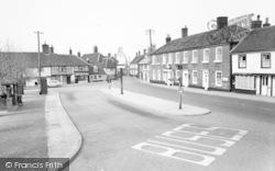 Wickham Market, White Hart And Sign 1959