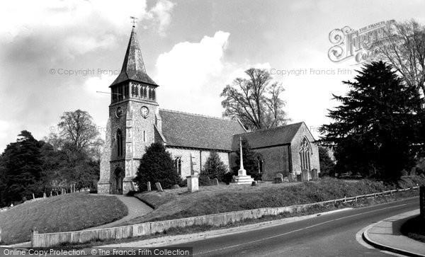 Photo of Wickham, St Nicholas' Church 1957